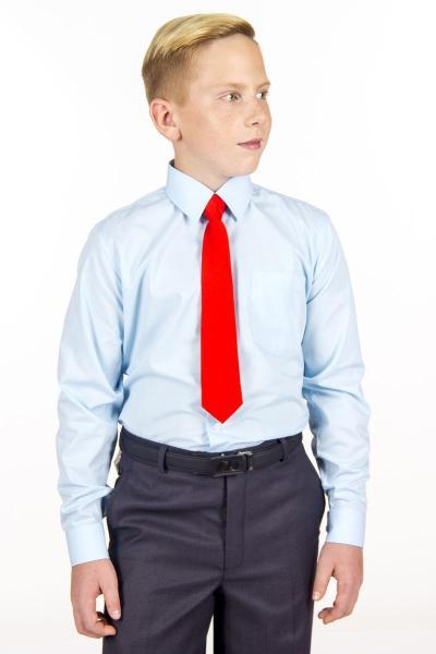 11.06-02.001.004 галстук детс 6см рег узел однотон крас я