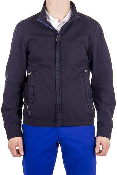 12.03-GMF-G5539-1 куртка лето чёрно-синяя