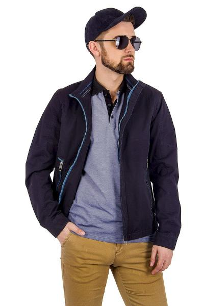 12.03-GMF-G5544-1 куртка лето чёрно-синяя