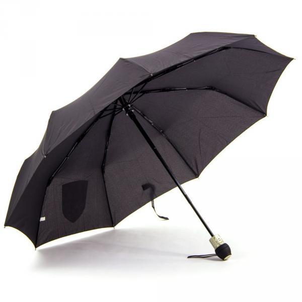 1.02-ELEGANT-1507 зонт ручка прямая черный