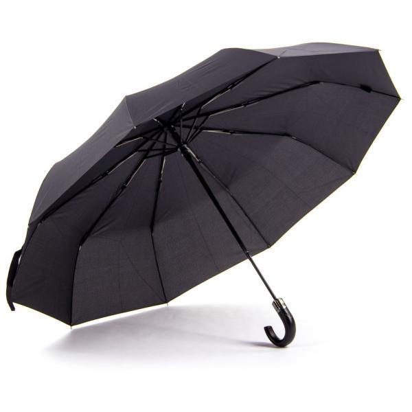 1.02-VISION-1709 зонт ручка круглая черный