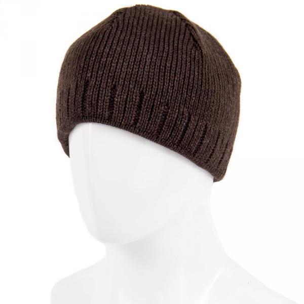 1.05-914-02 шапка т.корич. тёплая без отворота
