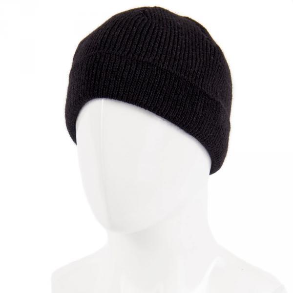 1.05-920-06 шапка черный тёплая без отворота