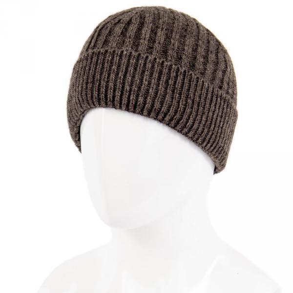 1.06-522-02 шапка коричневая тёплая с отворотом
