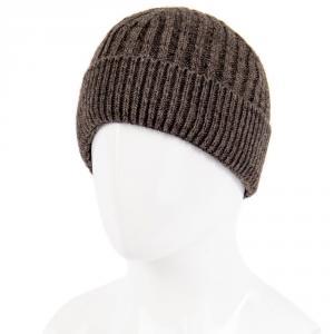 Фото Мужские аксессуары, шапки 1.06-522-02 шапка коричневая тёплая с отворотом