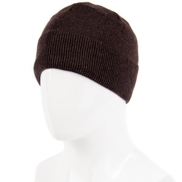 1.06-685-02 шапка коричневая тёплая с отворотом