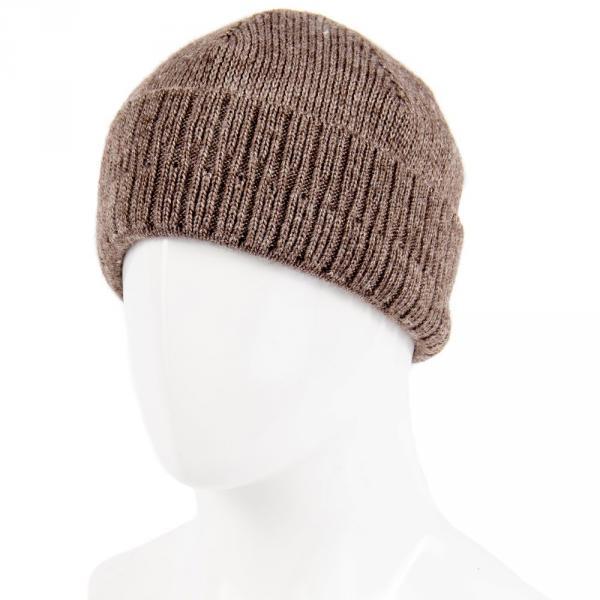 1.06-689-03 шапка св.корич. тёплая с отворотом