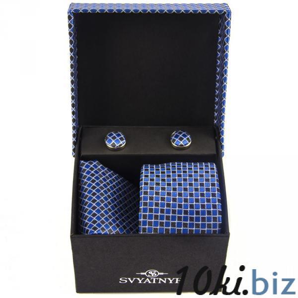 10.06.02-01393 подарок зап.гал.плат Подарочный набор запонки, галстук, платок в России