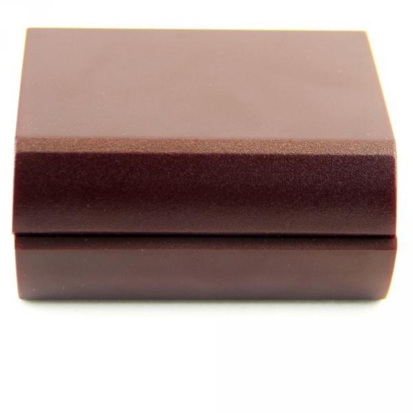 4.01.006.005 зап-ка вип сереб прямо с камнем короб бордо