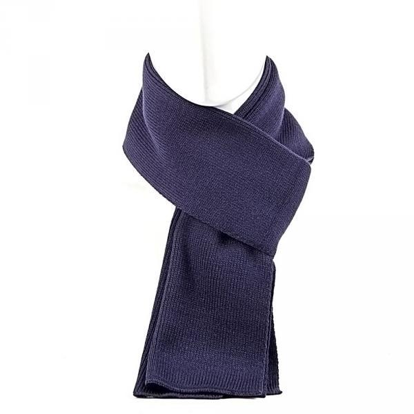 10.1.02.217-4027 шарф узкий гладкий т.синий