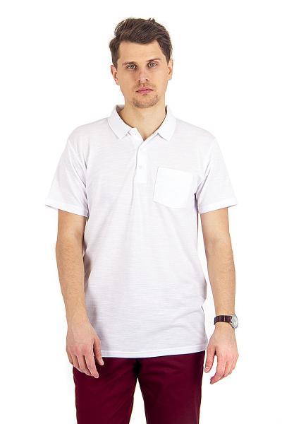 7.02-073-05 футболка поло с пуговицами и карманом