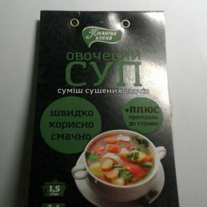 Фото Пища  быстрого приготовления Овощной суп 85 гр+приправа