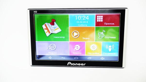 "7"" Планшет-навигатор Pioneer 1Гб/8Гб+Android+Navitel+АВТОКОМПЛЕКТ"