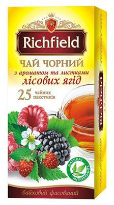 """Чай черный Лесная ягода """"Richfield"""" 25 пакетиков"""
