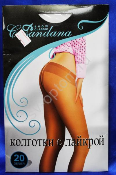 """Колготки """"Casandana"""" 20den. Белые. р.III арт. 030-012"""