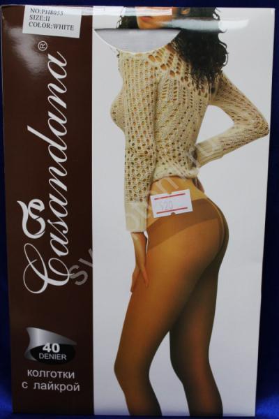 """Колготки """"Casandana"""" 40den. Белые. р.II арт. 030-011"""