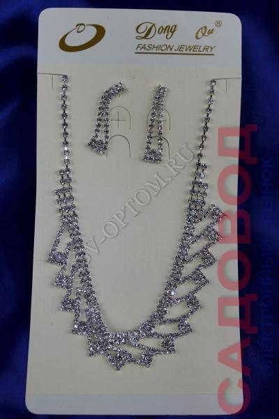 Колье и серьги арт. 034-091 Комплекты бижутерии на рынке Садовод