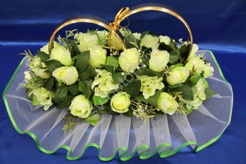 Кольца с желтыми розами арт. 122-320