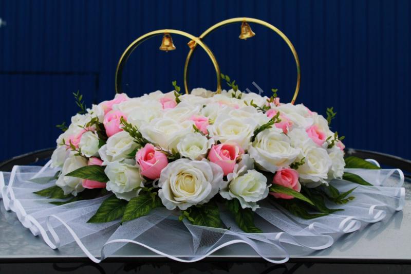 Кольца c айвори и розовыми розами арт. 122-135