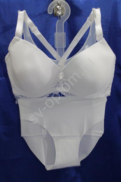 Комплект нижнего белья белый(Р-ры:80D,85D,95D) арт. 018-031