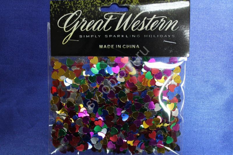 Конфетти сердечки маленькие разноцветные арт. 077-065