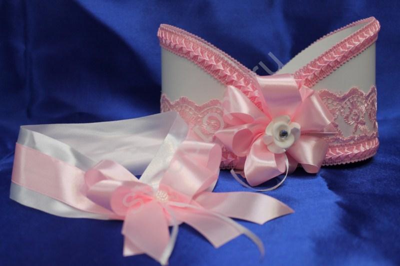 Корзинка для шампанского нежно-розовый арт. 048-013