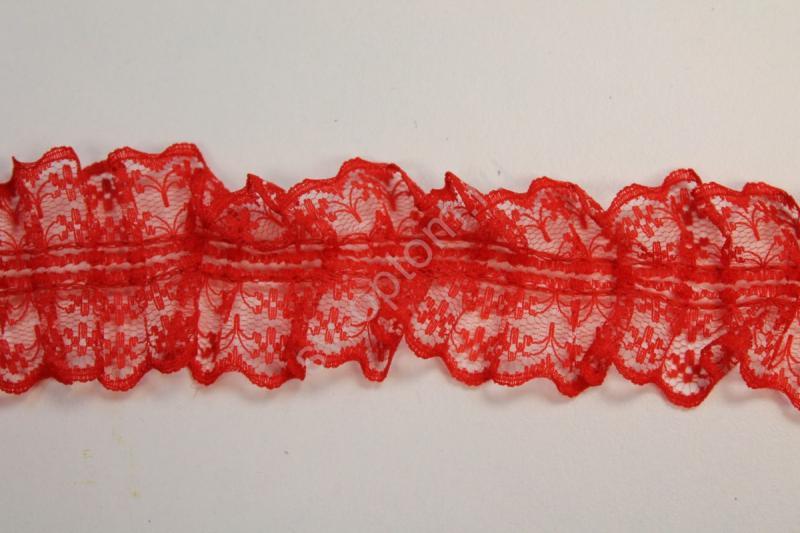 Кружево красное длина 20ярдов (18,3 метра) арт. 133-019