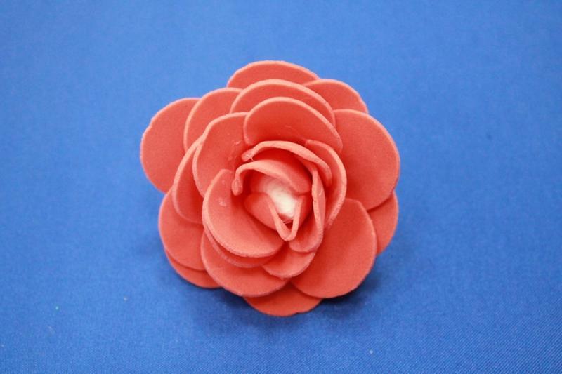 Латексный цветок Красный (65-70 мм) арт. 139-025