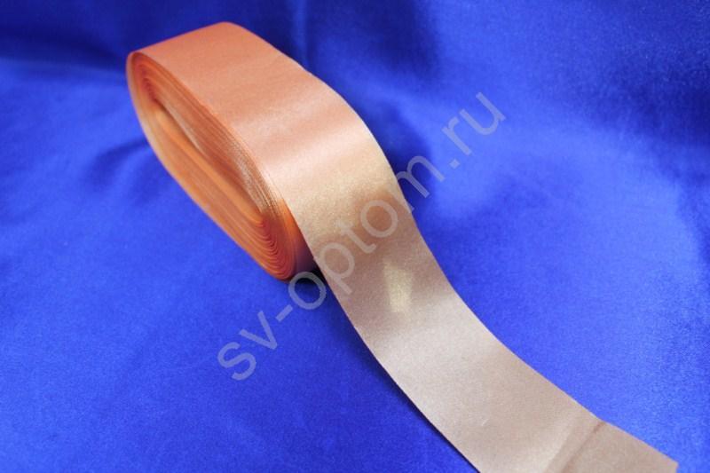 Лента атласная Цвет: Морковный 5см*50м арт. 134-058