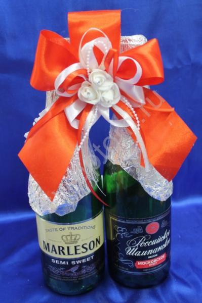 Лента для шампанского (восьмерка) красная арт. 048-074