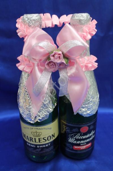 Лента для шампанского (восьмерка) розовая арт. 048-111