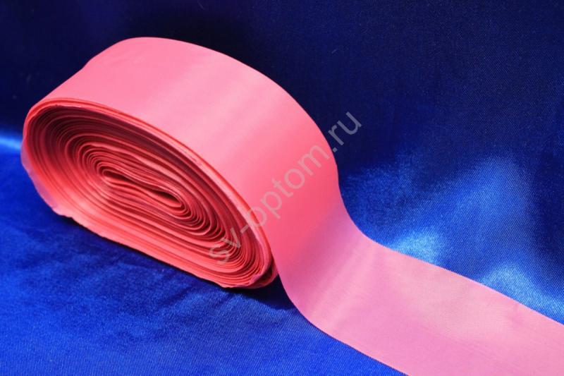 Лента капроновая Цвет: Ярко-розовый 5см*100м арт. 134-083