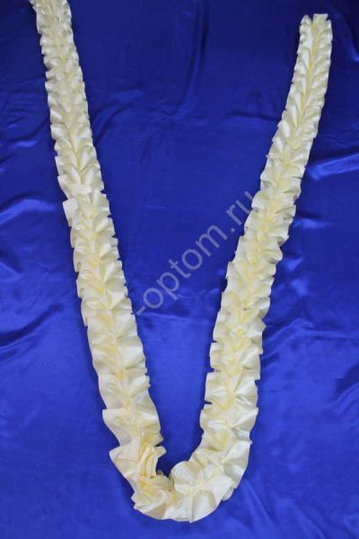 Лента кручёная атлас (цвет айвори) арт. 9-018
