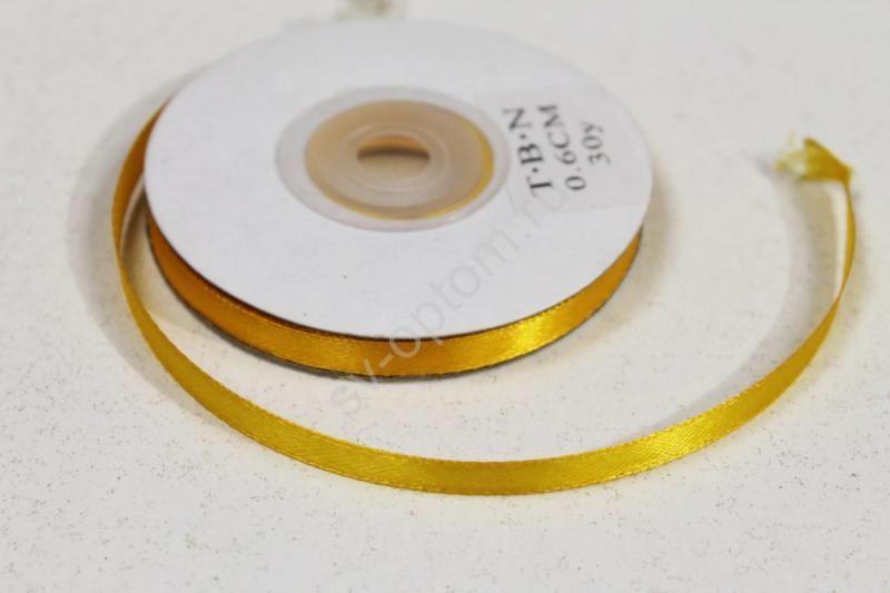 Лента Цвет: Желтый 6мм 30ярдов арт. 134-001