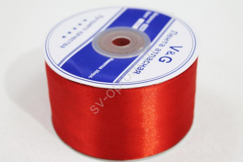 Лента Цвет: Красный 50мм 30ярдов арт. 134-046