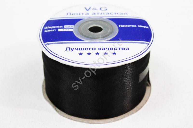 Лента Цвет: Черный 50мм 30ярдов арт. 134-037