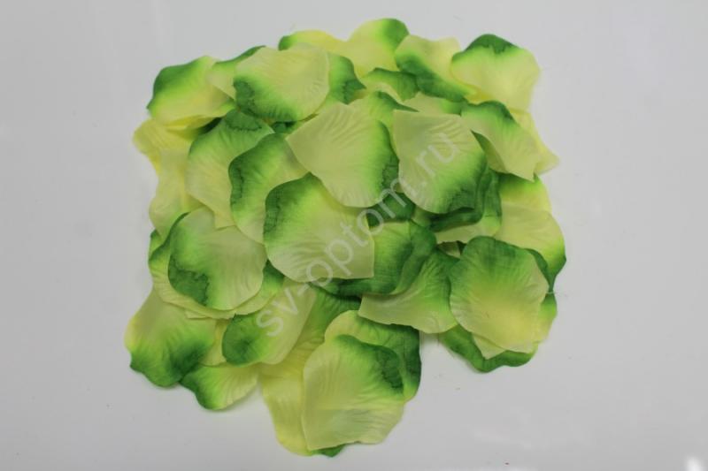 Лепестки роз желто-зеленые арт. 077-050