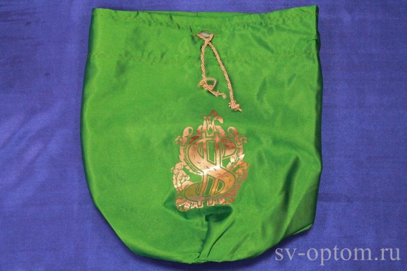 Мешочек для денег зелёный арт. 071-137