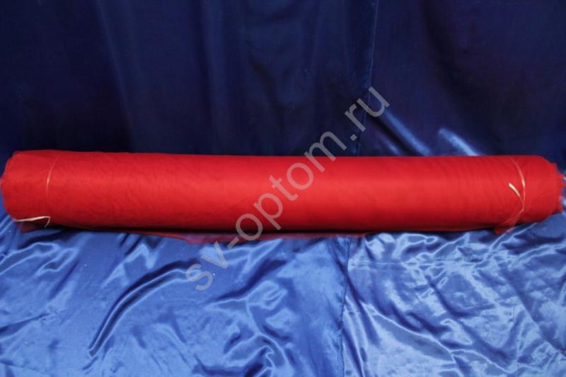 "Мягкая сетка.""Фатин лайкра"" Цвет: красный. Длина 200м х 155см арт059(цена за 1 метр)"