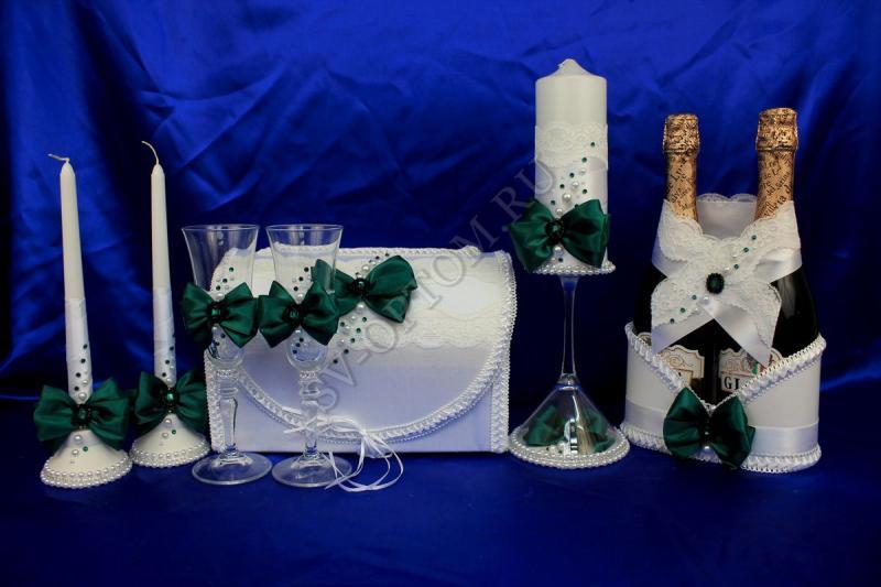 Набор (Сундучок, Корзинка для шампанского, Свечи, Бокалы) арт. 053-088