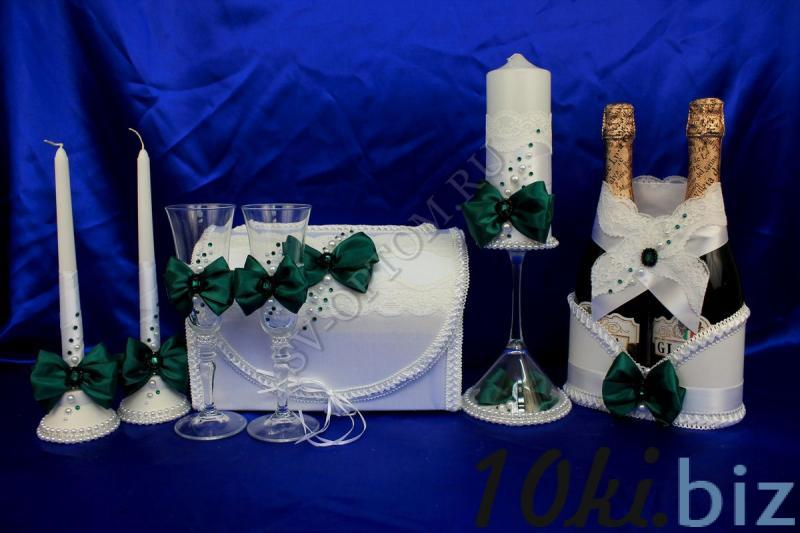 Набор (Сундучок, Корзинка для шампанского, Свечи, Бокалы) арт. 053-088 Свадебные корзинки и сита в России
