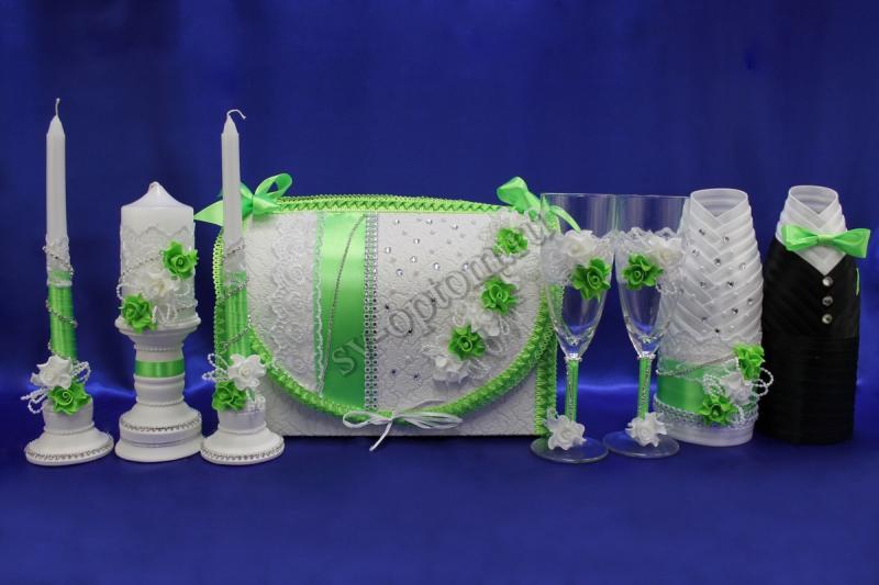Набор (Сундучок, Одежда на шампанское, Свечи, Бокалы, ) арт. 053-003
