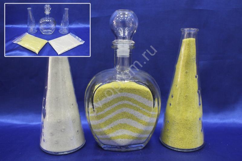 Набор для песочной церемонии желто-белый арт. 147-007