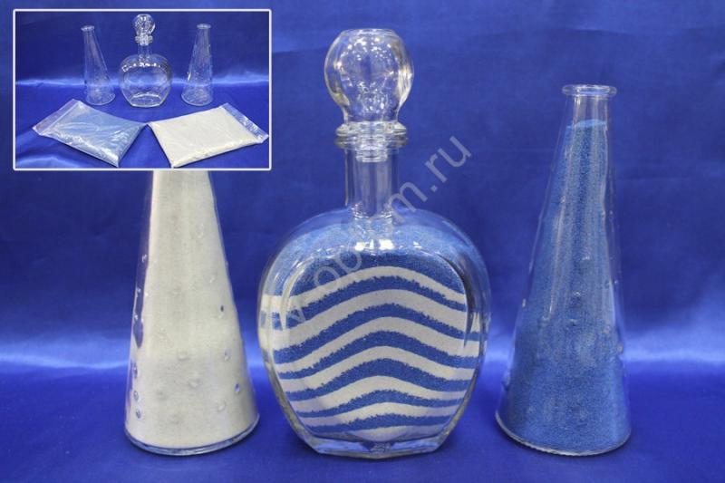 Набор для песочной церемонии сине-белый арт. 147-011