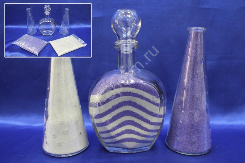 Набор для песочной церемонии фиолетово-белый арт. 147-013