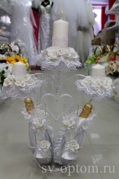 Набор для свадебного стола на подставке ручной работы №2