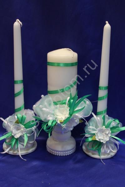 Набор из трех свечей тиффани арт. 062-144