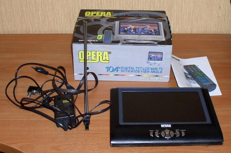"""Телевизор """"Opera"""" OP-V20A (10,4``) с антенной *7417"""