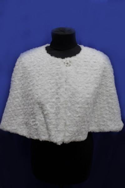 Накидка белая мелкая роза арт. 016-178