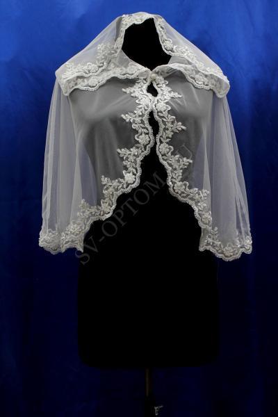 Накидка для венчания. Цвет: белый. арт. 014-006